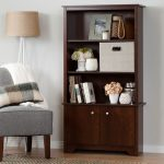 Cherry 3-Shelf Storage Bookcase – Vito