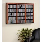 Cherry 47 Inch Wall Mounted Media Storage