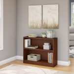 Cherry Brown 2-Shelf Bookcase – Universal