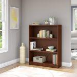 Cherry Brown 3-Shelf Bookcase – Universal