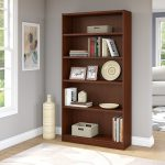 Cherry Brown 5-Shelf Bookcase – Universal