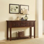 Cherry Brown Entryway Table – Sienna