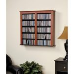Cherry Floating Wall Mounted Media Storage