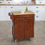Cherry/Natural Kitchen Cart