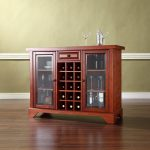 Cherry Sliding Top Bar Cabinet – LaFayette