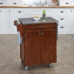 Cherry/Stainless Kitchen Cart