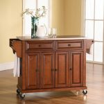 Cherry Stainless Steel Top Kitchen Cart