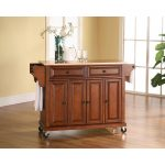 Cherry Wood Top Kitchen Cart