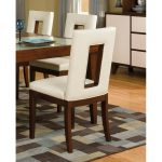 Cherry and White Upholstered Dining Chair – Enzo