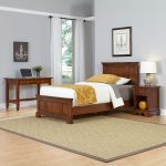 Chesapeake Cherry Twin Bed, Nightstand, and Student Desk