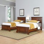 Chesapeake Cherry Two Twin Beds and Nightstand