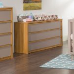 Child Craft Oiled Oak and Potters Clay Double Dresser