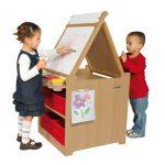 Child's Desk to Easel Art Cart