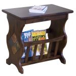 Chocolate Brown Magazine Rack and End Table