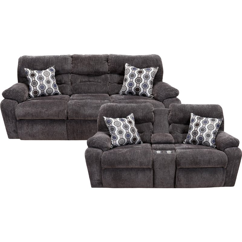 Chocolate Brown Power Reclining Sofa Loveseat Tribute