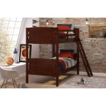 Chocolate Brown Scored Twin-over-Twin Bunk Bed – Pine Ridge