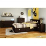 Chocolate Full Mates Bed with 4 Drawers (54 Inch) – Karma