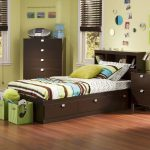 Chocolate Twin Storage Bed with 3 Drawers and Headboard – Spark