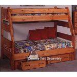 Cinnamon Rustic Pine Twin-over-Full Bunk Bed – Palomino