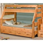 Cinnamon Rustic Pine Twin-over-Full Bunk Bed with Trundle – Palomino
