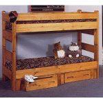 Cinnamon Rustic Pine Twin-over-Twin Bunk Bed – Palomino