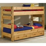 Cinnamon Rustic Pine Twin-over-Twin Bunk Bed with Drawers – Palomino