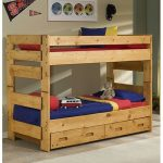 Cinnamon Rustic Pine Twin-over-Twin Bunk Bed with Trundle – Palomino