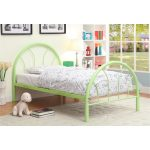 Clarkson Green Metal Twin Bed