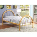 Clarkson Orange Metal Twin Bed