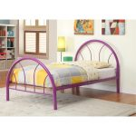 Clarkson Purple Metal Twin Bed