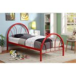 Clarkson Red Metal Twin Bed