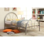 Clarkson Silver Metal Twin Bed