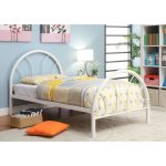 Clarkson White Metal Twin Bed