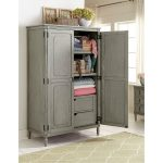 Classic Antique Gray Armoire – Aviana