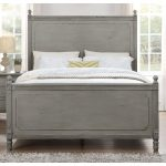 Classic Antique Gray Full Size Bed – Aviana