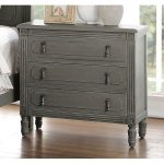 Classic Antique Gray Nightstand – Aviana