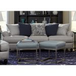 Classic Blue-Silver Striped Sofa – Quincy