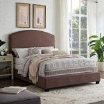 Classic Brown King Upholstered Bed – Cassie