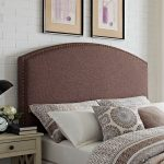 Classic Brown Upholstered King Headboard – Cassie