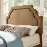 Classic Camel Brown King Upholstered Headboard – Loren