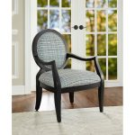 Classic Contemporary Blue Plaid Accent Chair – Hailey