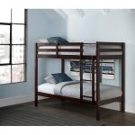 Classic Contemporary Brown Twin-over-Twin Bunk Bed – Caspian
