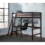 Classic Contemporary Chocolate Twin Loft Bed – Caspian