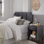 Classic Contemporary Gray Full-Queen Headboard & Nightstand – 5th.
