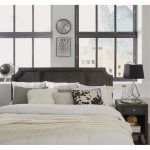 Classic Contemporary Gray King Headboard and Nightstand – 5th Avenue