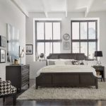 Classic Contemporary Gray King Size Bed, Nightstand & Chest – 5th.