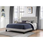 Classic Contemporary Gray King Upholstered Bed – Delaney