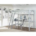 Classic Contemporary Gray Twin Loft Bed – Caspian