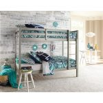 Classic Contemporary Gray Twin-over-Twin Bunk Bed – Caspian