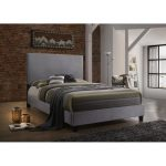 Classic Contemporary Gray Upholstered Queen Bed – Delora